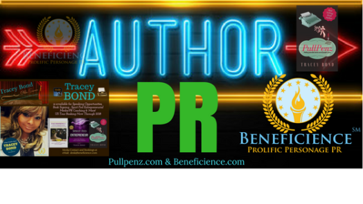 BOOKING AUTHOR PR STARS AT PULLPENZ.com and BENEFICIENCE.com